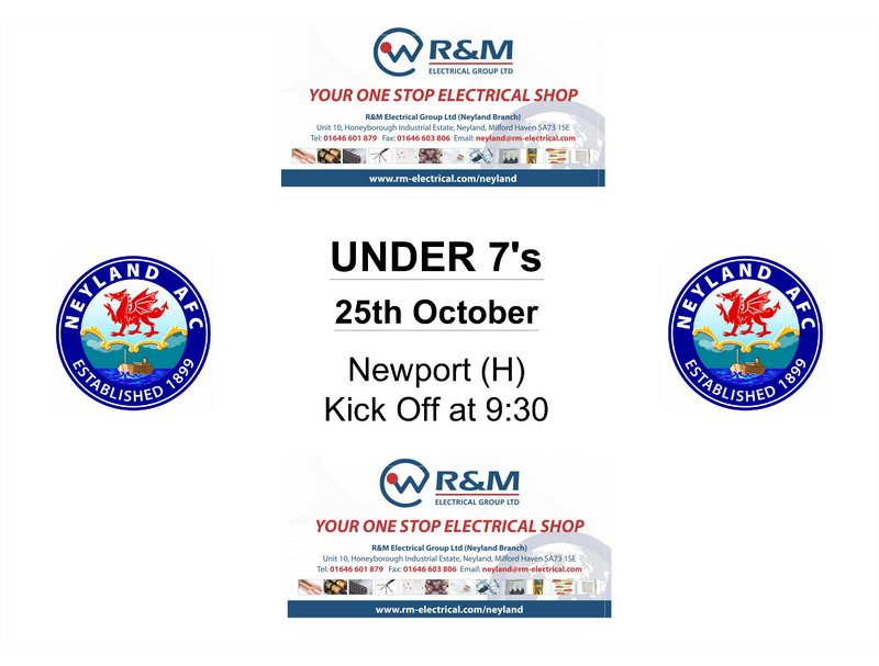 Neyland under 7s football fixtures October 2014