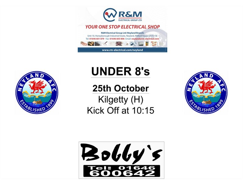 Neyland under 8s football fixtures October 2014