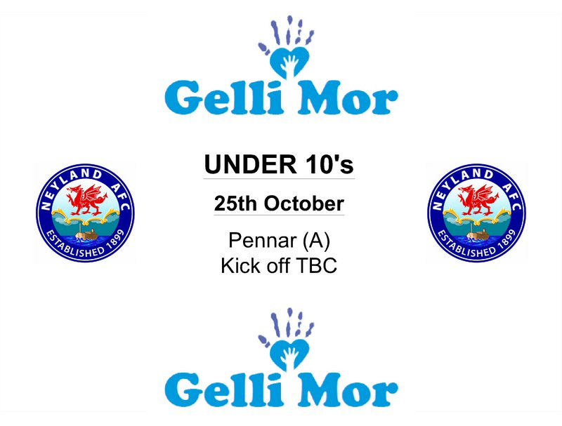 Neyland under 10s football fixtures October 2014