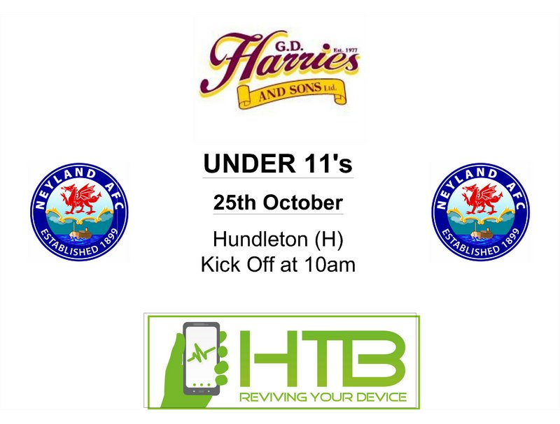 Neyland under 11s football fixtures October 2014