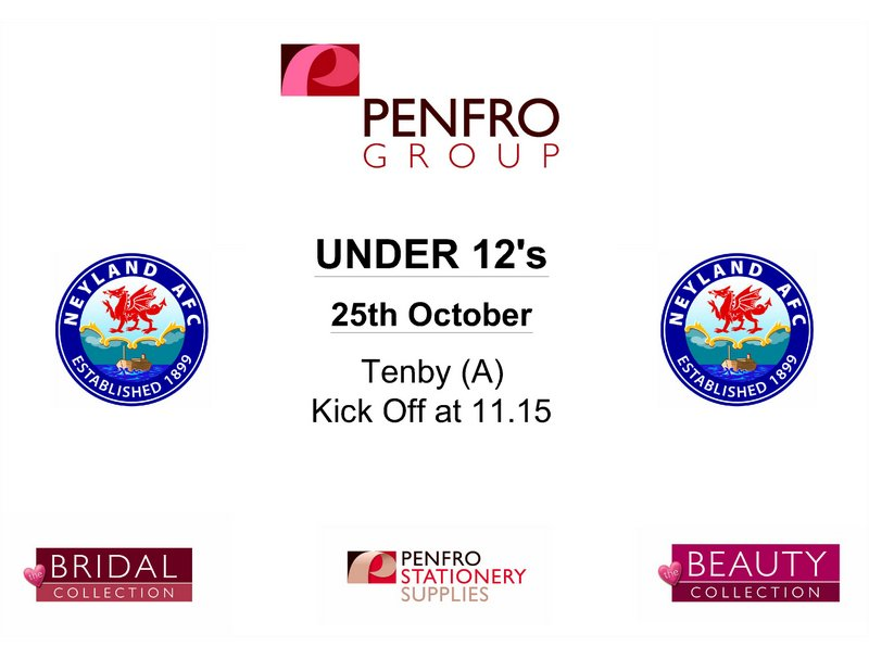 Neyland under 12s football fixtures October 2014