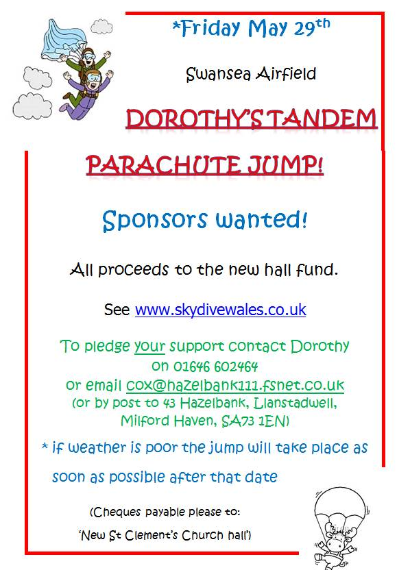 Parachute jump 29th May