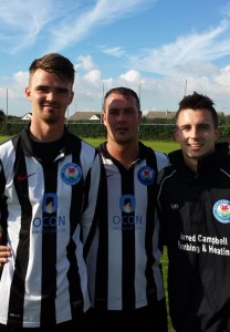 Mikey Chandler, Wayne Vaughan-Parry and Justin Harding
