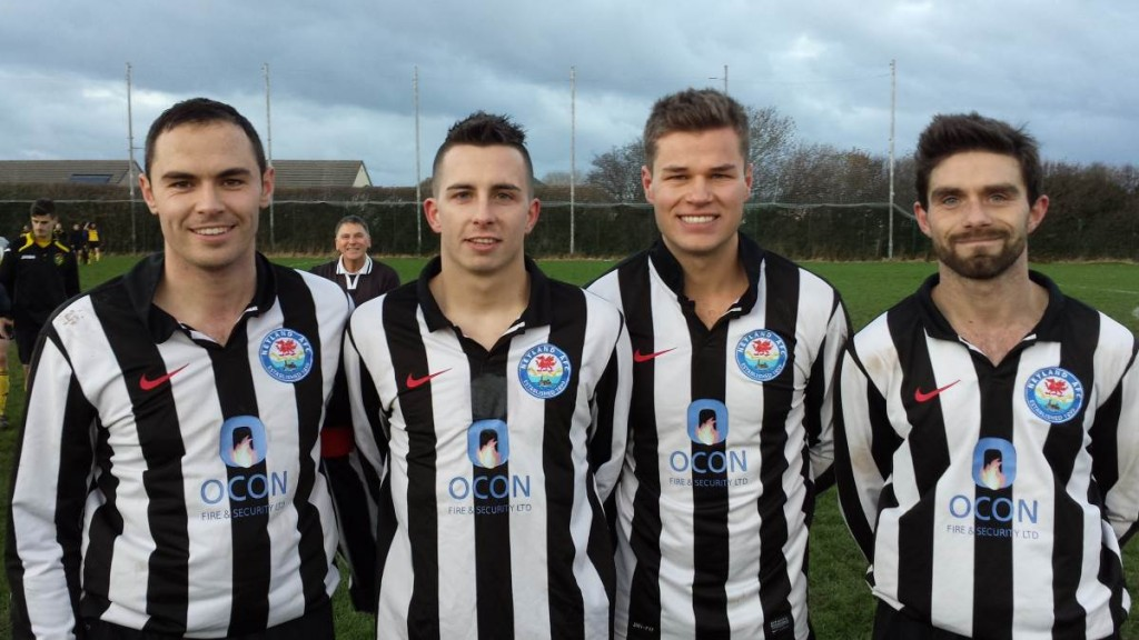 goal scorers Sean Hannon, Justin Harding, Henry Durrant and Nathan Warlow.