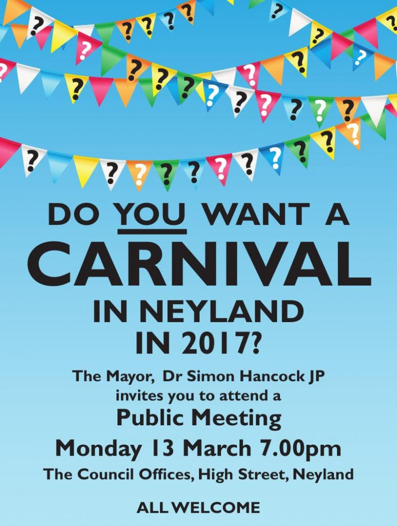 Meeting at 7pm 13th March 2017 council offices, Neyland