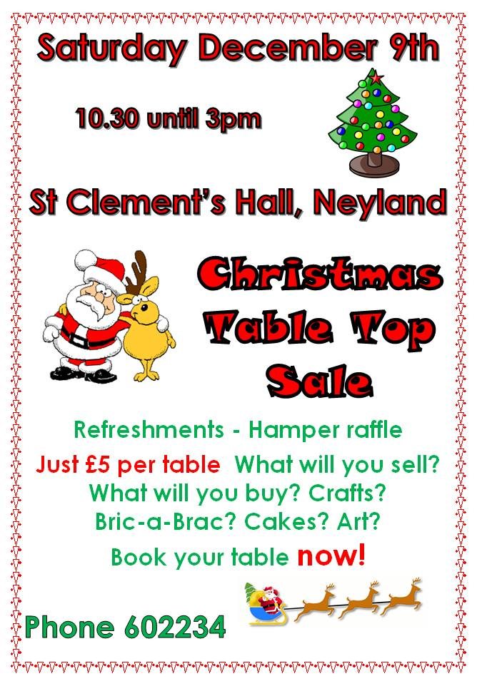 Christmas Table Top Sale @ St Clements Hall, Neyland