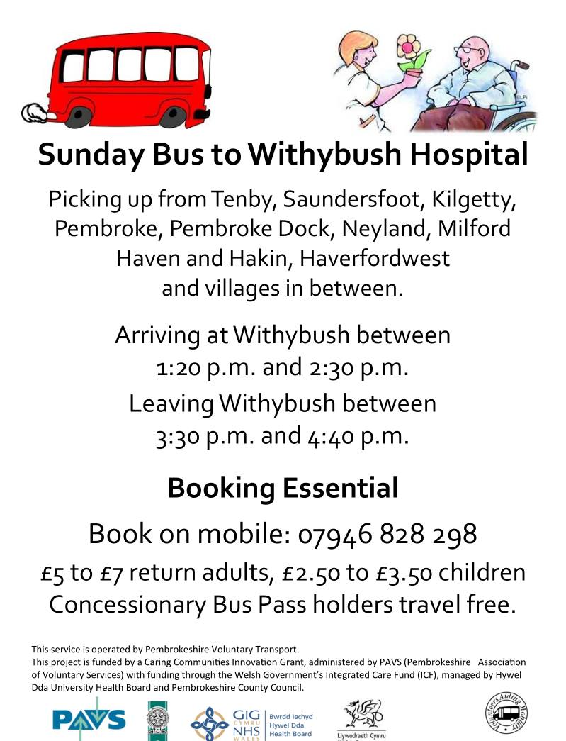 Poster about Withybus bus service