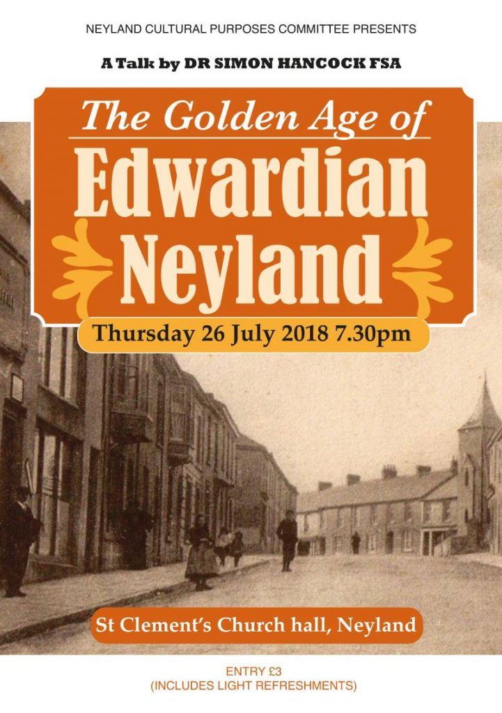 The Golden Age of Edwardian Neyland @ St Clements Church Hall | Neyland | Wales | United Kingdom