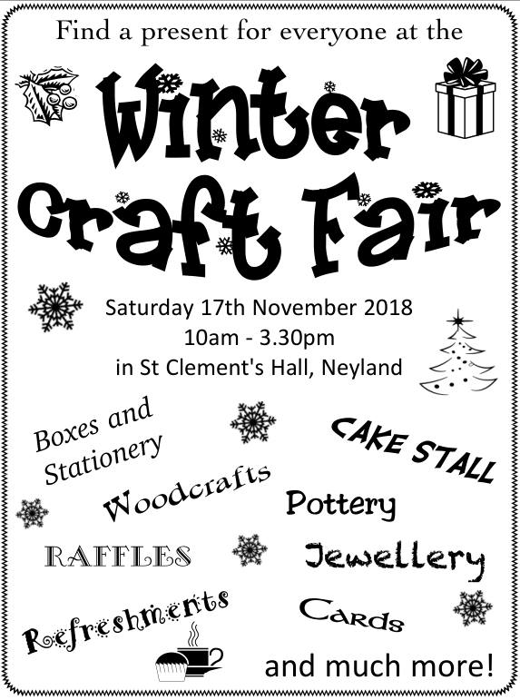 Winter Craft Fair @ St Clements Church Hall | Neyland | Wales | United Kingdom