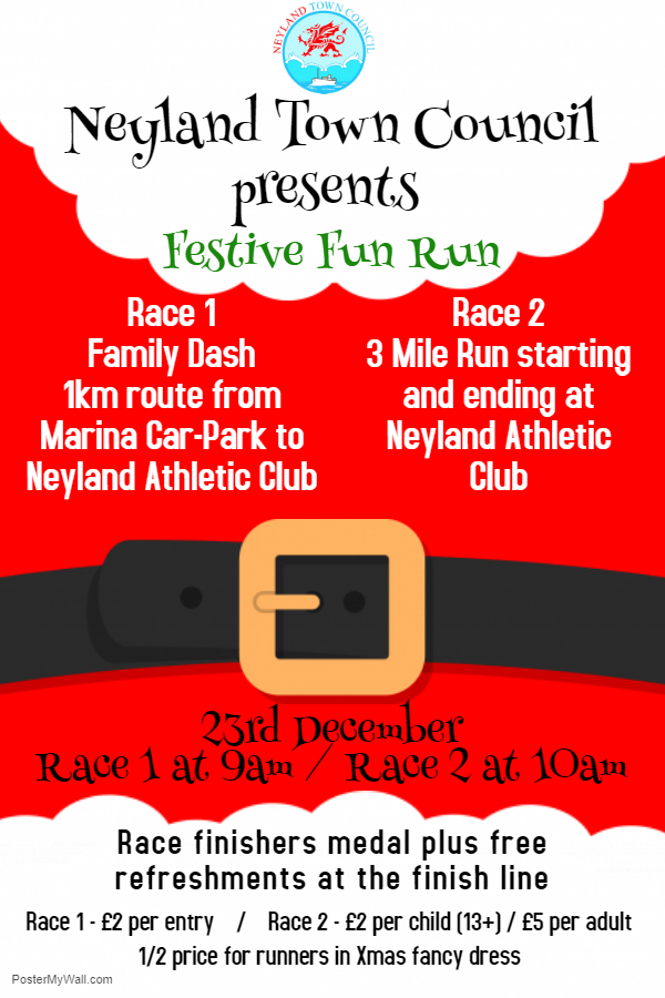 Neyland town council presents...festive fun run!