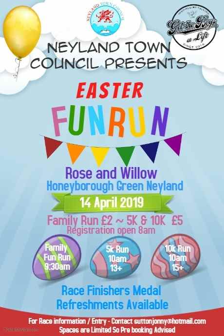 Easter Fun Run @ Rose and Willow